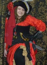 Pirate girl costume hire Perth