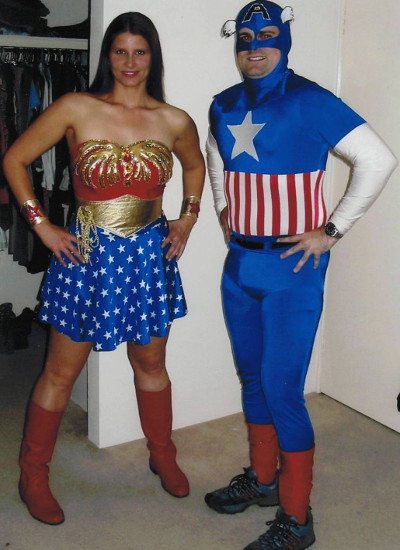Superhero couple costume hire Perth