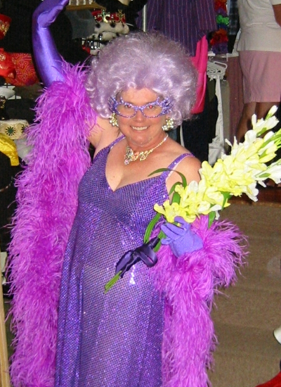 Australiana Dame Edna costume hire Perth