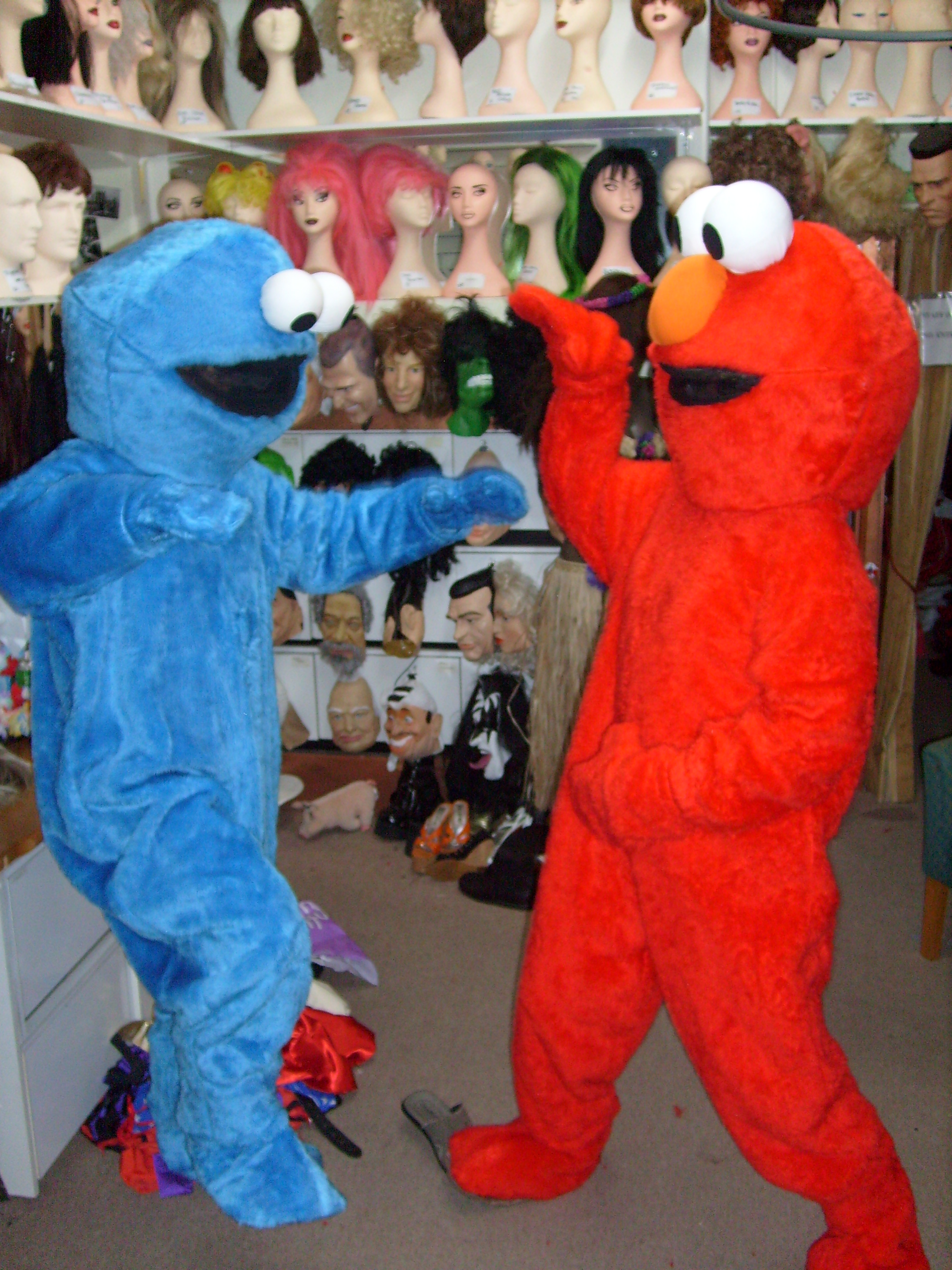 Elmo and Cookie Mascots - Claremont Fancy Dress