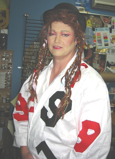 Rockstar Boy George costume hire Perth