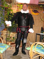 Royalty Black Adder costume hire Perth