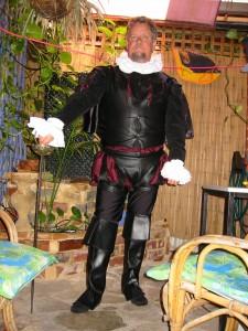 Royalty Black Adder costume hire Perth